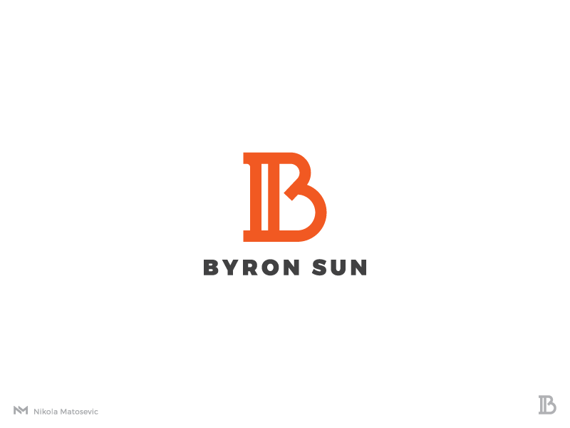 Byron Sun - V1 monogram law minimalist logo logo designer logo design mark letterform letter b column lawyer