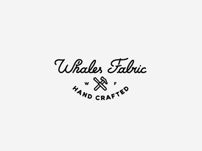 Whales Fabric #1 script font typeface ligature logo designer logotype design logo design logotype australia heritage vintage handmade hand crafted lettering hand lettering logo
