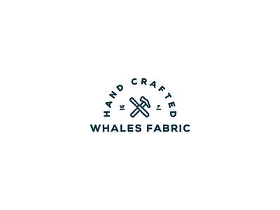 Whales Fabric #3 logo design logotype design logotype typeface handmade font ligature calligraphy hand lettering handmade script font retro heritage vintage logo designer symbol mark logo