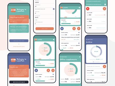LoanPulse - mobile application app design mobile ux uiux ui monitoring dashboard chart finance app finance app design