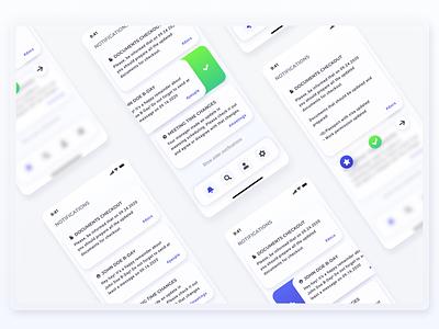 Notification center from team management app android web ios application app design mobile app ux ui design