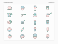 Coffeecons - free vector icon set