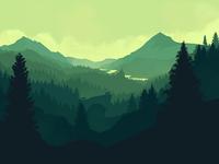 Valley Illustration