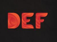 Alphabet Design - DEF