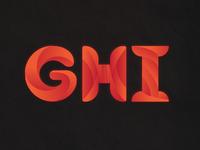 Alphabet Design - GHI