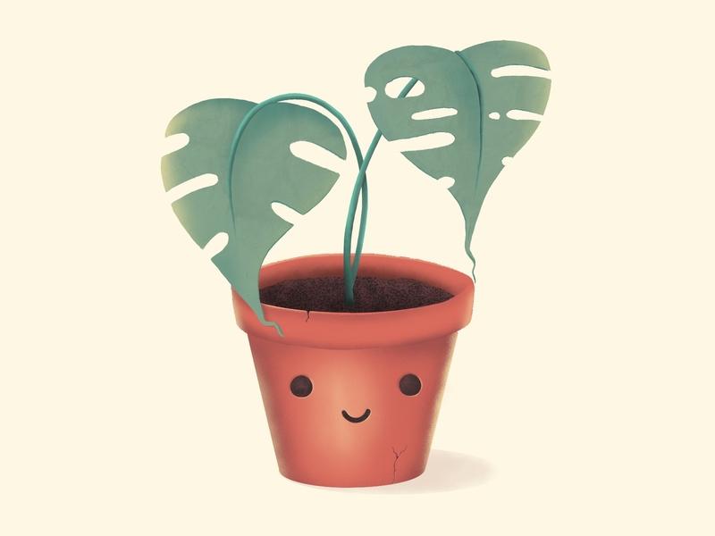 🌱 Happy Plant character design procreate illustration graphic design design