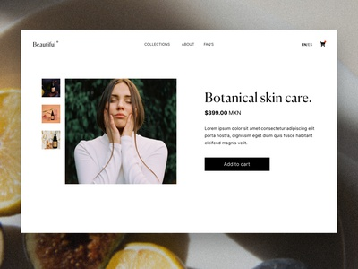 🛒 Shopify // E-commerce ecommerce webdesig webanimation store shopify store shopify html development website care skincare css front-end