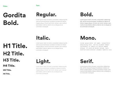 Typography system. web typography font-family font content design brief title text