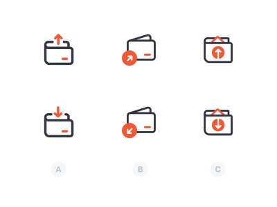 Send & Request Icons strokes icon design money fintech iconset icons