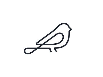 Maya bird v1 maya bird illustration illustrator single-stroke line icon logo