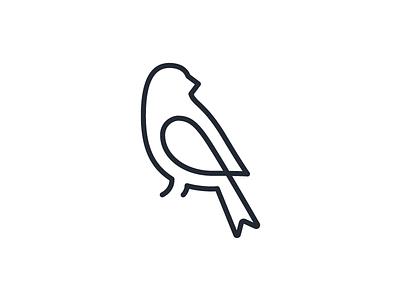 Maya Bird v2 single stroke maya logo line illustrator illustration icon bird