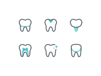 Dental Treatment Icons