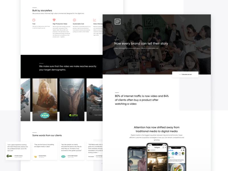 1216 Media - Homepage Design landing agency team interface homepage web design ui website web