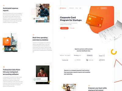 Spenmo - Website Concept 01 receipt credit card ui landing page interface website concept webdesign website homepage