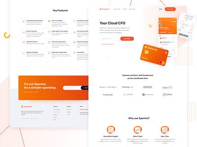Spenmo - Website Concept 03 homepage website webdesign website concept interface landing page ui credit card receipt