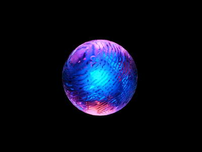 Sphere 3d art colorful blue wantline illustration icon blender material circle