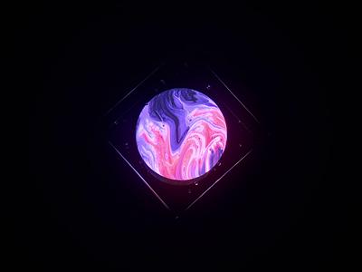 Crystal planet illustration circle cube lightning render animation 3d art blender glasses abstract crystal planet glass