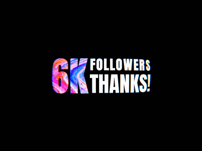 6K FOLLOWERS design branding illustration 3d animation 6k followers thanks blender 3dtype