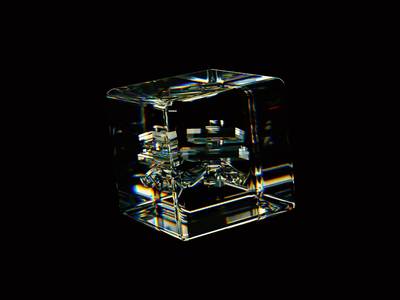 Future rendering future cube glass prism 3d animation 3d art blender