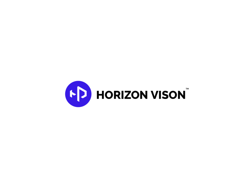 Horizon Vison logotype vector branding flat illustration icon typeface logo