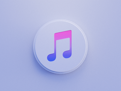 Applemusic 3d art vector wantline flat illustration clean blender web design icon