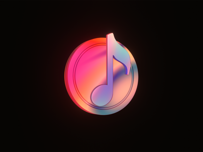 519 Musicicon 3d art eevee blender logo illustration icon music art music app music