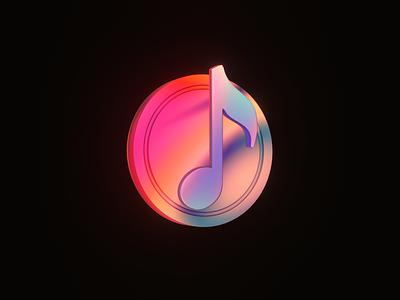 519 Musicicon 3d art eevee blender logo illustration icon music art music app music