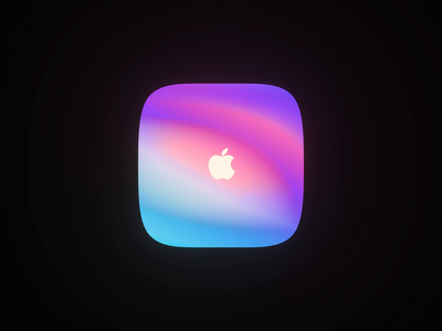 Apple Color rendering gradient apple color 3danimation blender eevee wantline clean icon 3d art