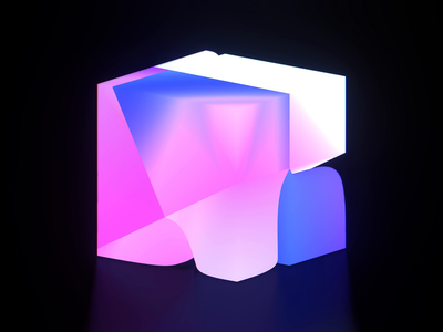 5241200 3d art 3d animation wantline gradient cube eevee clean blue blender