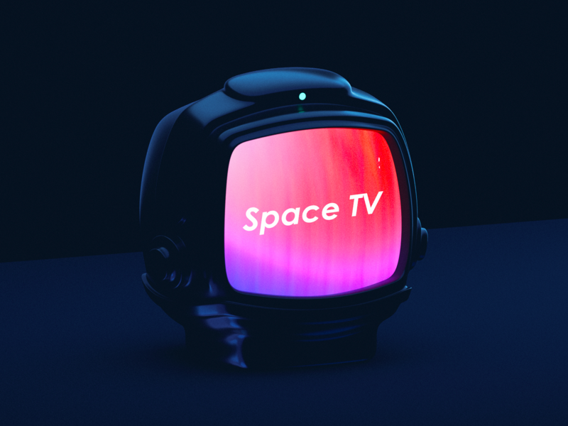 Space TV 3dicon icon wantline gradient blender3d helmet astronaut spaceman space
