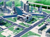 Asiainfo Virtual city unity vr ar visualization bigdata virtual clean blender city 3d art