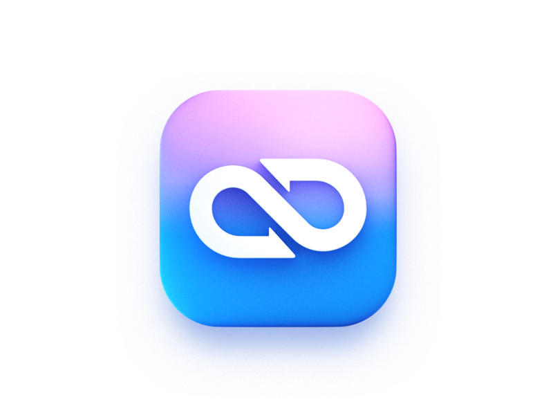 Infinity symbol-3d icon ring mobius logo blender illustration icon