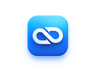 Infinity symbol-3d icon ring mobius logo blender illustration icon