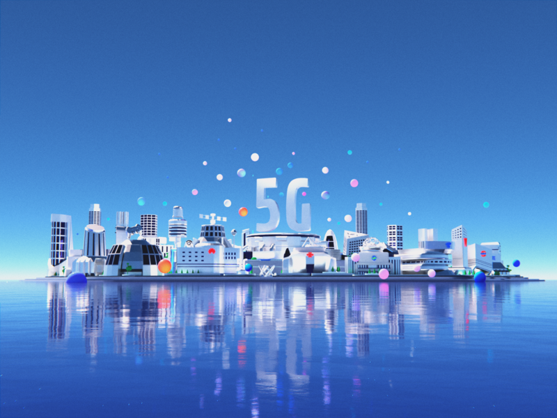 5G City 3d art bulding future blender city