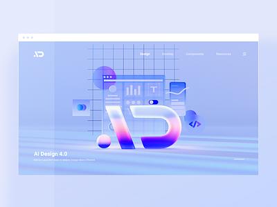 AI Design 4 0 Scenes 01 illustration wantline web web design ui app design language design system