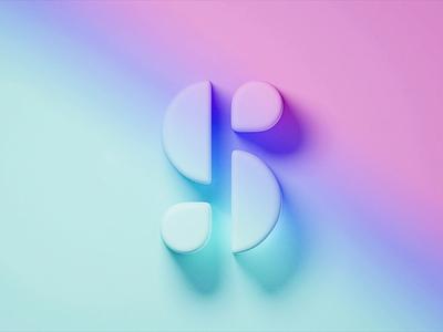 Calendarzen Logo gradient animate animation gradient color gradient logo blender branding wantline