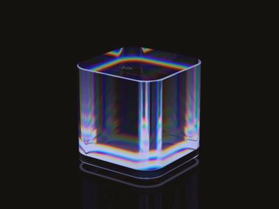 AI Design Branding asiainfo aidesign animation 3d cube crystal caustics blender wantline