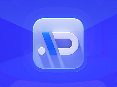 AI Design LOGO icon 3dicon appicon app aidesign blender blue wantline icon