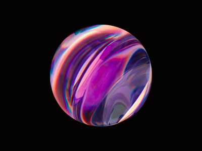 Optical glass ball 2 3d animation 3d art blender illustration wantline optics glassy transmission liquid abstract gradient color gradient