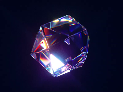 Vintage gem light icon wantline render 3d vintage abstract lights glassy gem blender 3d blender
