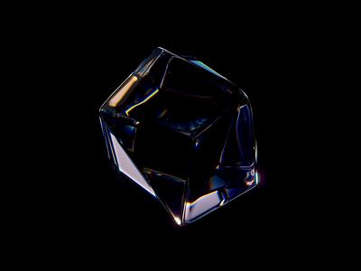 Vintage gem light 2 abstract gradient lights cube glassy icon illustration blender vintage wantline