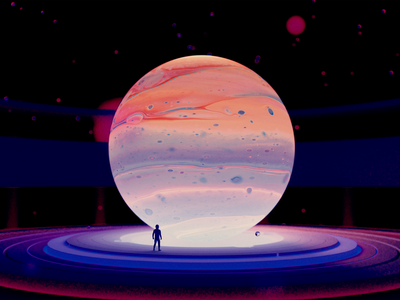 Go on an adventure 3d artist wechat planet 3d art blender wantline illustration