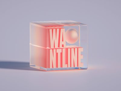 WANTLINE gradient abstract glassy branding clean 3d art blender illustration wantline