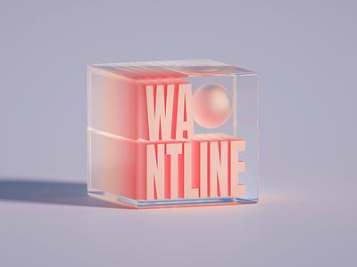 WANTLINE gradient abstract glassy branding clean 3d art blender illustration wantline