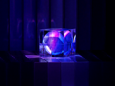 GEOMETRY-PLANET-520 capital glassy planet abstract gradient geometry branding blue 3d art clean blender illustration wantline