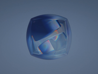 6-5-D geometry cube glass gradient abstract animation blender illustration wantline