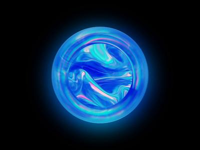 6-30 fluid abstract sphere motion graphics flow blue blender wantline