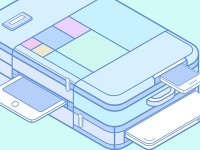 Laptop-bag vector sketch outline macbookpro ios device apple