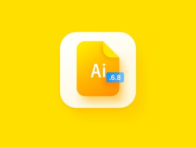 Daily icon design-.AI yellow clean simple wantline sketch logo file illustrator ai card icon