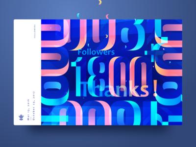 1800 color blue wantline thanks follower dribbble